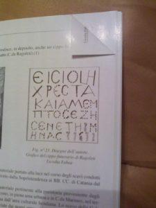 Greco scritto in Calatino Antico