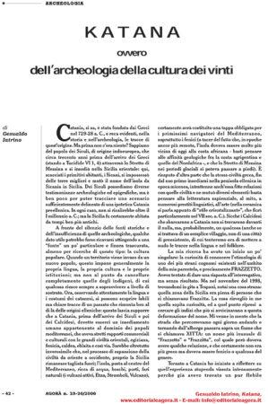 KATANA ovvero dell'archeologia della cultura dei vinti