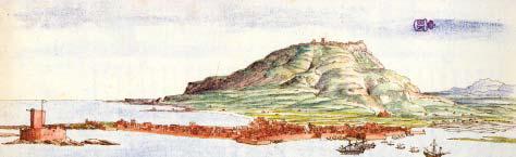 La costa di Trapani in una tavola di Tiburzio Spannocchi.